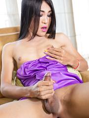 Sexy Purple Dress Bareback