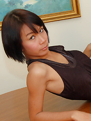 Young Asian ladyboy pummelled by mature cock