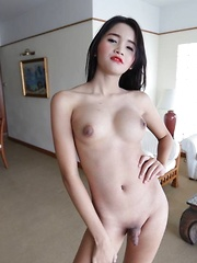 Small cock 18 year old Ladyboy gets ass packed by large dick
